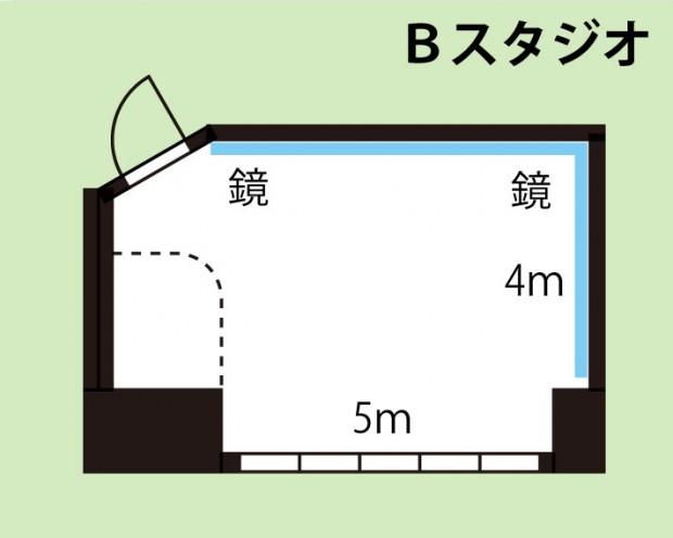 武蔵小杉レンタルスタジオ Bスタジオ図面