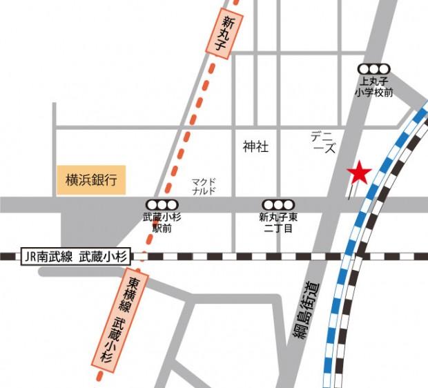 武蔵小杉プエルタスタジオ 地図