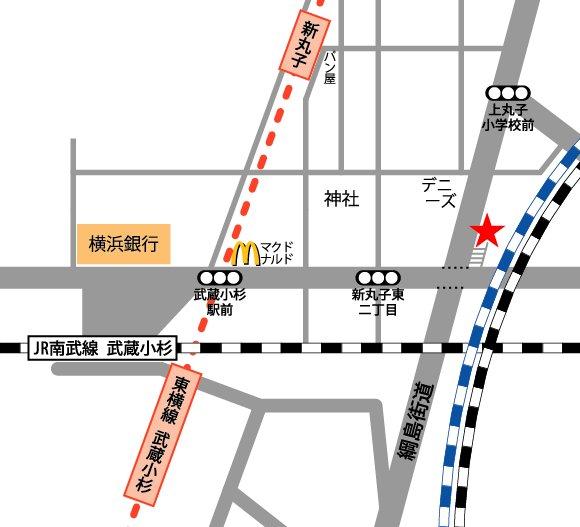 武蔵小杉 レンタルスタジオ 地図