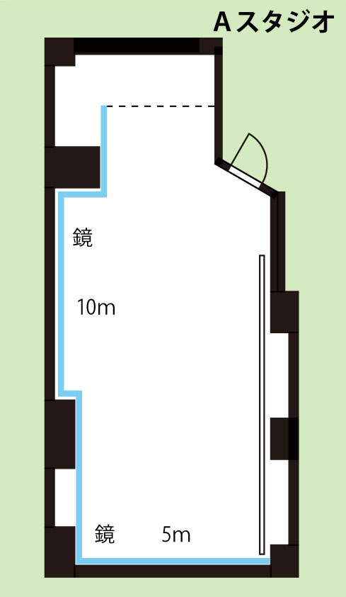 武蔵小杉レンタルスタジオ Aスタジオ図面